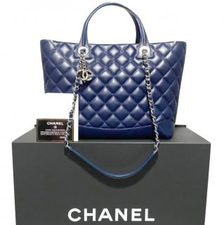 Chanel Quilted Leather Two-Tone Shopper