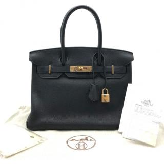 Hermes Togo Leather Black Birkin 30 GHW
