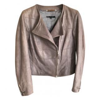 Escada Sport Taupre Nappa Leather Jacket