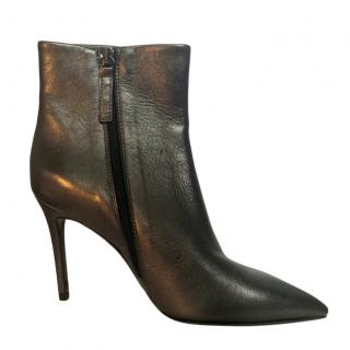 Marc Cain Black Leather Pointed Toe Ankle Boots