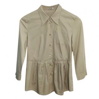 Miu Miu Peplum Beige Shirt