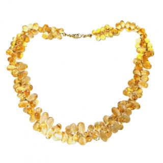 Bespoke Citrine Briiolette necklace with 18ct gold clasp.