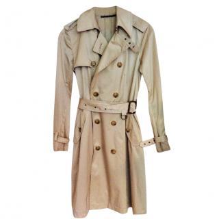 Ralph Lauren beige short trench coat
