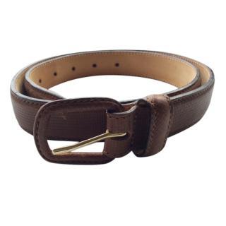Giorgio Armani Lizard embossed leather belt