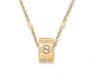 Gucci 18K Yellow Gold Blossom Icon Twirl Necklace