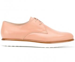 Tod's Beige Oxford Platform Shoes