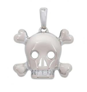 Dior Gold Set Diamond Skull Pendant