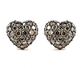 Chopard White Gold Diamond Heart Earrings