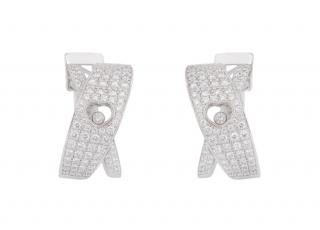 Chopard White Gold Diamonds Earrings