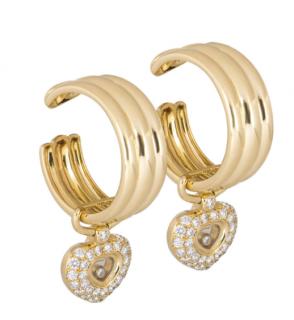 Chopard Diamond Heart Drop Earrings