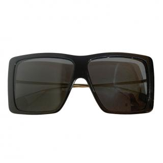 Gucci black acetate oversized sunglasses