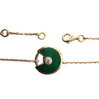 Bespoke rose gold and diamond open work bracelet