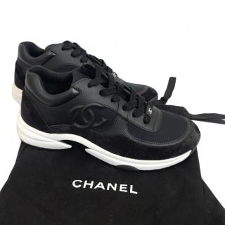 Chanel Black & White CC Sneakers