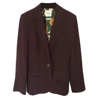 Hermes Plum Wool Tailored Jacket