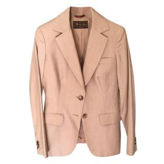 Loro Piana Beige Lightweight Tailored Jacket