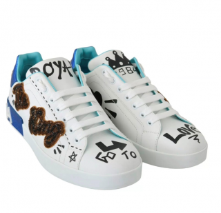 Dolce & Gabbana Men's White Patches Sneakers