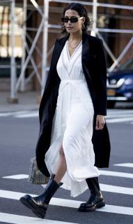 Self Portrait Ivory Jacquard Handkerchief Dress