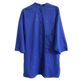 Hermes blue cotton tunic dress