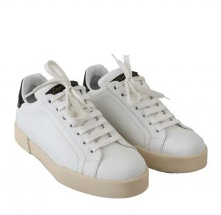 Dolce & Gabbana white leather sneakers