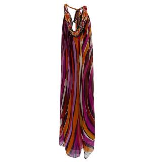 Diane Von Furstenberg Multi-Coloured Silk Printed Kaftan