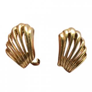 Christian Dior Vintage Fan Earrings