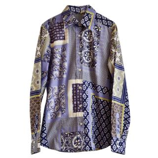 Etro patterned stretch cotton shirt