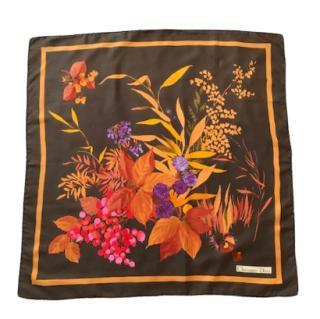 Dior Vintage Rare Floral Silk scarf
