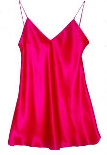 Maguy De Chadirac Pink Silk Slip Dress