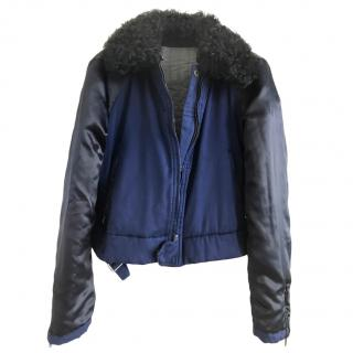 See By Chloe reversible shearling collar puffer jacket