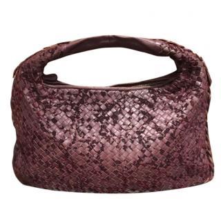 Bottega Veneta burgundy leather shoulder bag