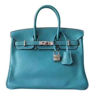 Hermes Swift Leather Blue Jean Birkin 25 PHW