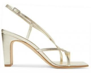 By Far Slingback Gold Metallic Carrie Sandals