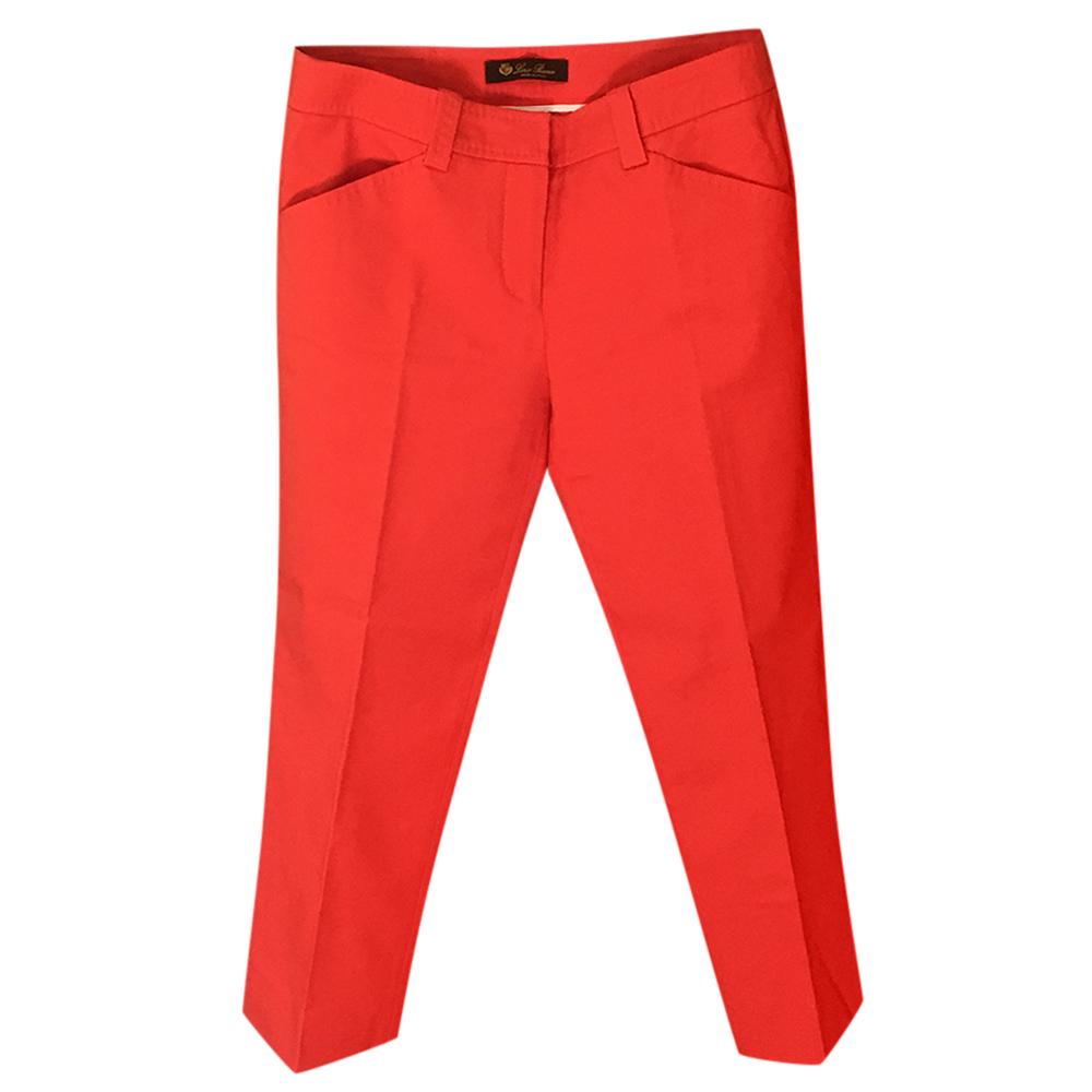Loro Piana Orange Capri Pants