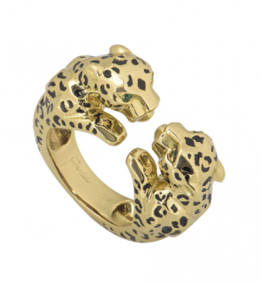 Cartier Yellow Gold Double Panther Ring