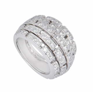Cartier White Gold Diamond Panthere Ring