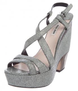 Miu Miu Platform Stingray Sandals