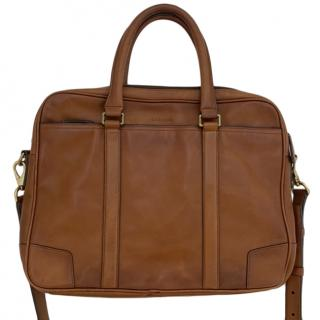 Coach brown leather business bag