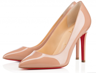 Christian Louboutin Nude Patent Pigalle 100 Pumps