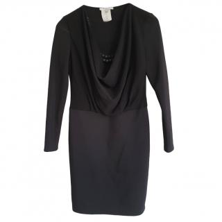 Givenchy Draped Cowl Neck Mini Dress