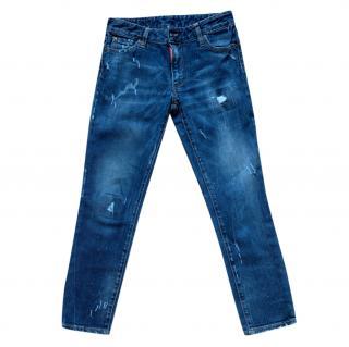 DSquared2 Distressed Slim Cut Jeans