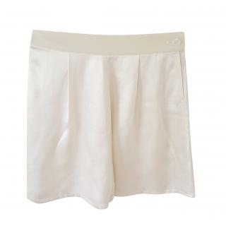 Ralph Lauren Collection Ivory Silk Shorts