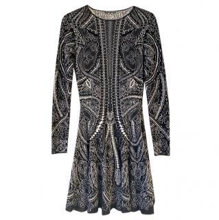 Alexander McQueen Silk & Wool Blend Dress
