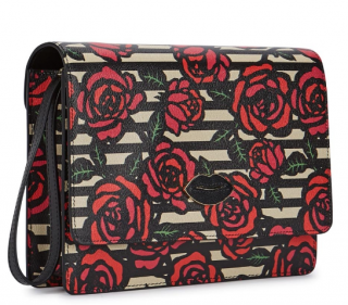 Charlotte Olympia Flynn Rose-Print Leather Clutch