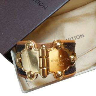 Louis Vuitton monogram/metal cuff