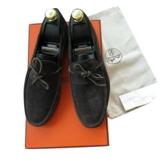 Hermes Amico Suede Mocassin Loafers