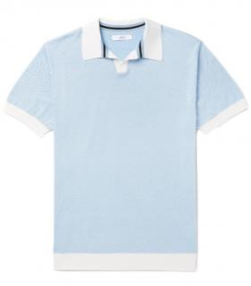 Mr P Knitted Cotton-Pique Polo Shirt