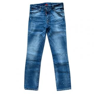 DSquared2 Blue Distressed Jeans