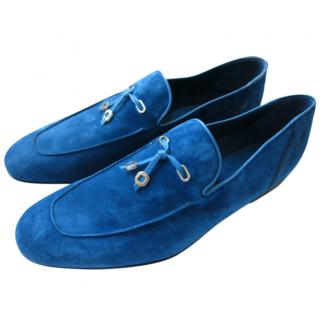 Stefano Ricci Blue Suede Loafers