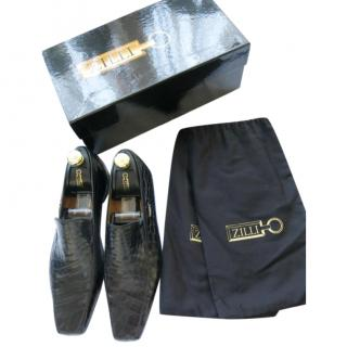 Zilli Black Crocodile Loafers