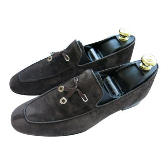 Stefano Ricci Brown Suede Loafers